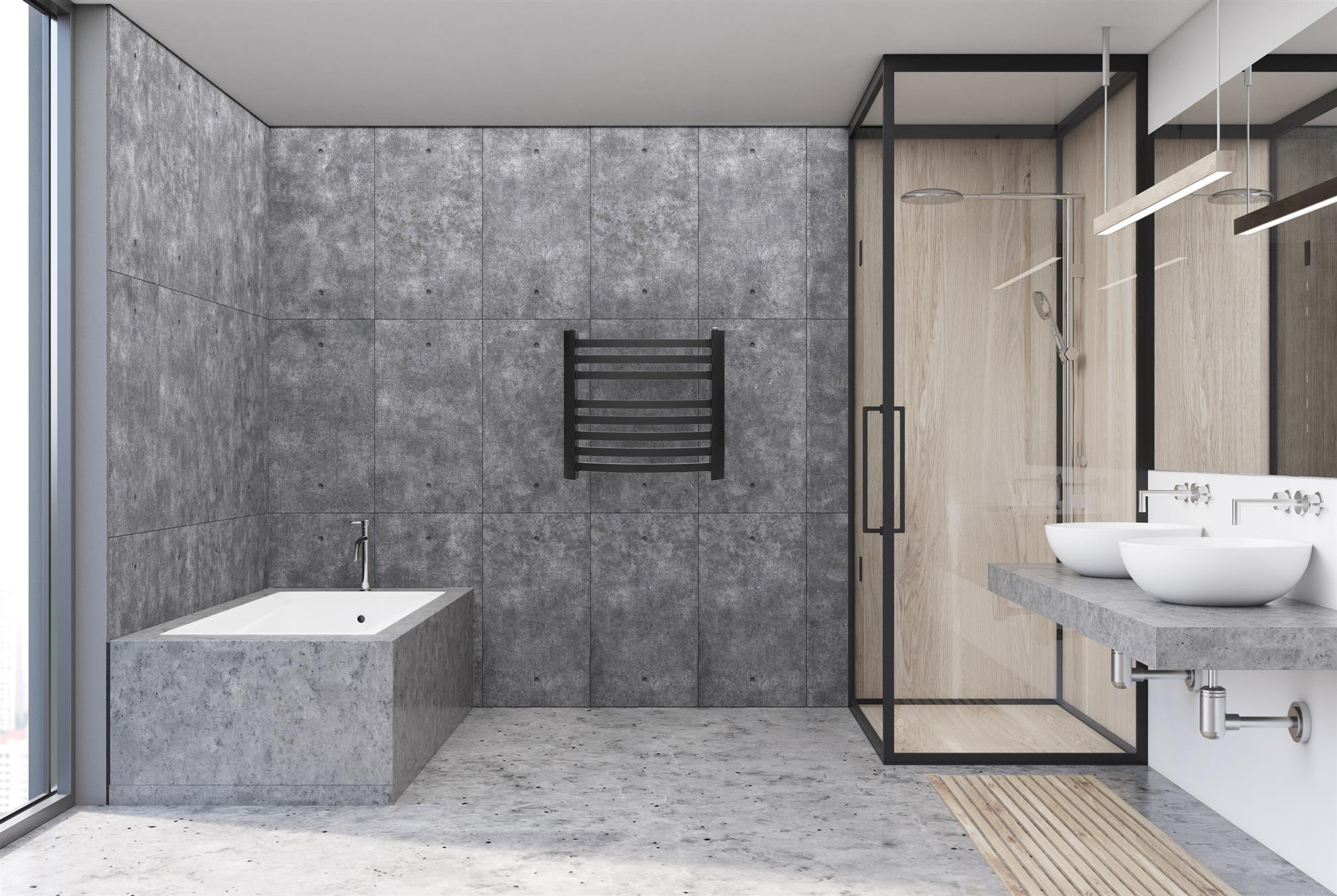 Obrazek Grzejnik łazienkowy stalowy drabinkowy FANO kolor ANTRACYT